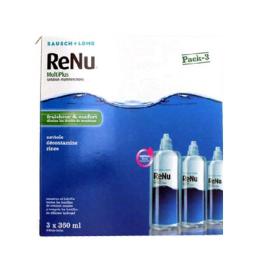 Renu Multiplus lentilles souples 3 flacons de 360ml + 3 étuis