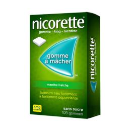 Nicorette Gomme à mâcher 4mg Menthe fraîche - 105 gommes