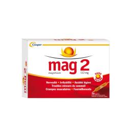 Mag 2 Sans Sucre 122 mg solution buvable  - 30 ampoules édulcorées de 10ml