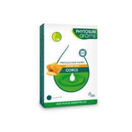 Phytosun aroms Pastilles sans sucres gorge Miel - 24 pastilles