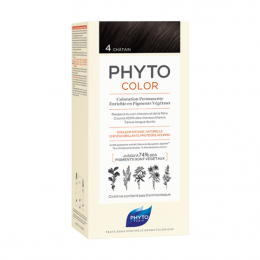 Phyto Phytocolor Kit de coloration permanente - 4 Châtain