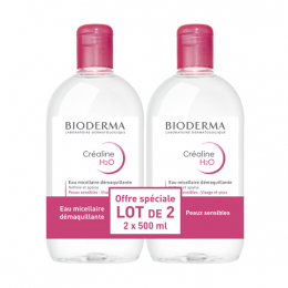 Bioderma Créaline H2O solution micellaire - 2x500ml