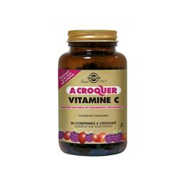 Solgar vitamine C 500mg à croquer saveur framboise - 90 comprimés
