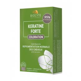 Biocyte Kératine Forte coloration - 60 gélules + 1 shampooing keratine OFFERT 200ml