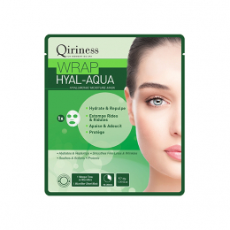 Qiriness Wraps booster Wrap hyal-aqua Masque microfibre hydratant - 30g