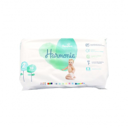 Pampers Couches Harmonie Taille 2 (4-8 kg) - 39 couches