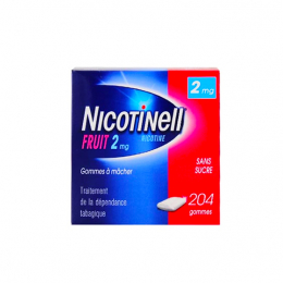 Nicotinell Fruit 2mg - x204 gommes à mâcher