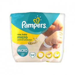 Pampers New Baby  Taille Micro (1-2,5 kg) - x24 couches
