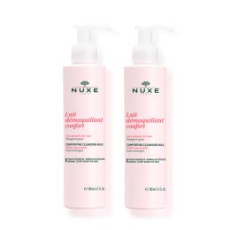 Nuxe Pétales de rose lait démaquillant confort - 2x200ml