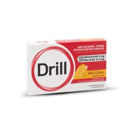 Drill Pastille Miel Citron sans sucre - 24 pastilles