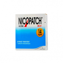 Nicopass Nicopatch 14mg/24h dispositif transdermique - x7 patchs