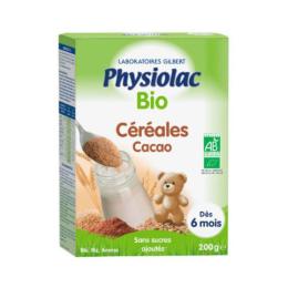 Physiolac Céréales Cacao BIO 6 mois - 200g