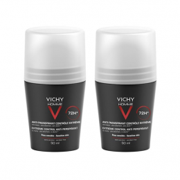 Vichy Homme déodorant anti-transpirant bille - 2x50ml