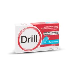 Drill Pastille sans sucre - 24 pastilles