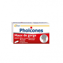 Pholcones Bismuth Adultes - 8 suppositoires