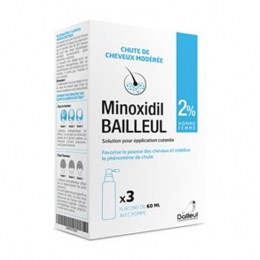 Minoxidil Bailleul 2% solution - 3x60ml