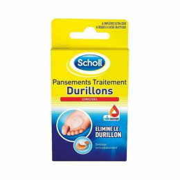 Scholl pansements  traitement durillons coricides - x4