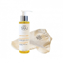 Taaj Abhyanga body kit minceur - huile minceur 100ml + gant + livret de recettes detox OFFERT