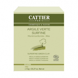 Cattier Argile verte surfine - 1kg