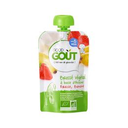 Good Gout Brassé végétal BIO Avoine fraise banane - 90g