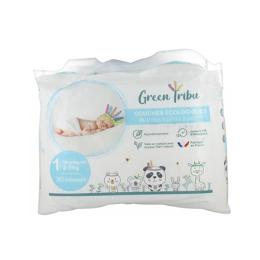 GREEN TRIBU Couches écologiques nouveau né T1 (2-5kg) - 30 couches