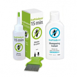 Ecoprioderm Kit d'action rapide - Lotion + Shampooing