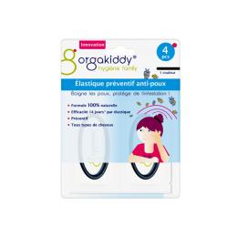 Orgakiddy Élastique préventif anti-poux - 4 élastiques