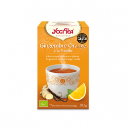 Infusion ayurvédique Gingembre orange à la vanille - 17 sachets