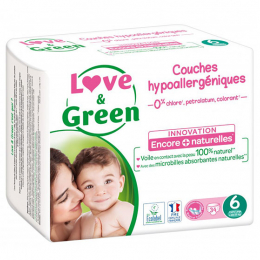 Love and green Couches écologiques Taille T6 - 34 couches