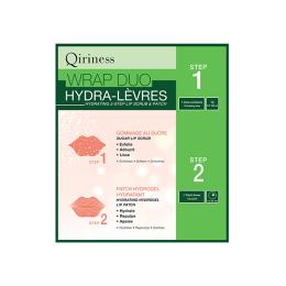 Qiriness Wraps booster Wrap duo hydra-lèvres Gommage et patch hydratant lèvres - 5g