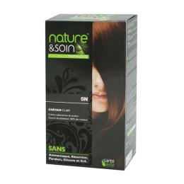 Santé Verte nature et soin coloration permanente châtain clair 5N - 129ml