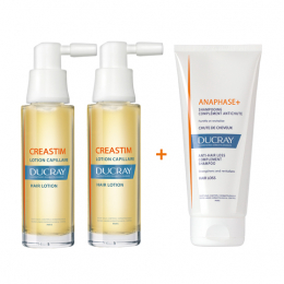 Ducray Creastim lotion antichute capillaire - 2x30ml + shampooing antichute 100ml OFFERT