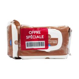 Gifrer lingettes nettoyantes à l'huile d'olive - 2x70 + 1 format voyage OFFERT