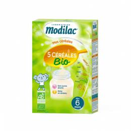 Modilac Mes céréales 5 céréales BIO dès 6 mois - 230g