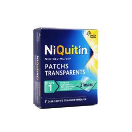 Niquitin patchs transparents 21mg/24h - 7 dispositifs transdermiques