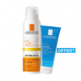 La Roche-Posay Anthelios XL Brume invisible spf50+ - 200ml + Lipikar Gel lavant OFFERT