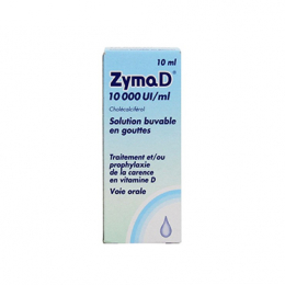 Zymad 10 000 UI/ml solution buvable en gouttes - 10ml