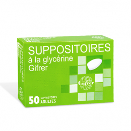 Gifrer Suppositoire à la glycérine - 50 suppositoires