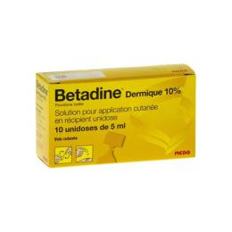 Betadine Dermique 10% solution pour application cutanée - 10 récipients unidose