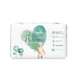 Pampers Harmonie Taille 4 (9-14 kg) - 40 couches