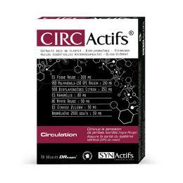 Aragan Synactifs Circactifs circulation - 30 gélules