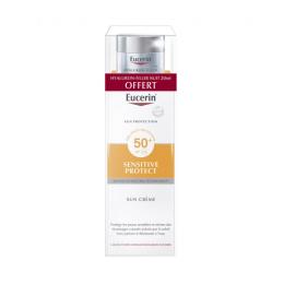 Eucerin Sensitive protect sun crème SPF50+ 50ml + Hyaluron-Filler night 20ml OFFERT