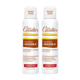 Rogé Cavaillès déodorant Absorb+ Homme 48h - 2x150ml