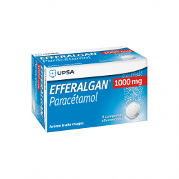 Efferalgan 1000mg fruits rouges - x8 comprimés effervescents