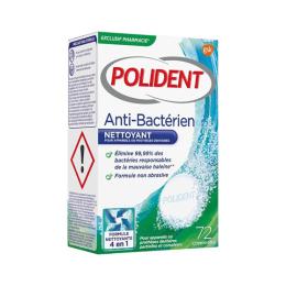 Polident Anti-bactérien - 72 comprimés