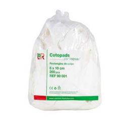 Cotopads rectangles de coton hydrophile 10x8cm - 200