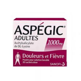Aspegic 1000MG adulte - 20 sachets