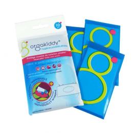 Orgakiddy Protège Cuvette de Toilettes Jetable 10 Sachets Individuels