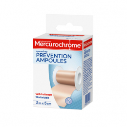 Mercurochrome sparadrap prévention ampoules