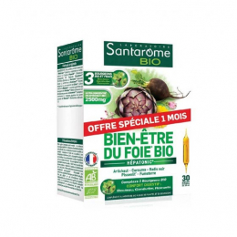 Santarome Bien-être du Foie BIO - 30 ampoules de 10ml